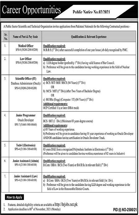 National Engineering and Scientific Commission NESCOM Jobs 2021